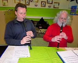 Üben auf dem Practise Chanter